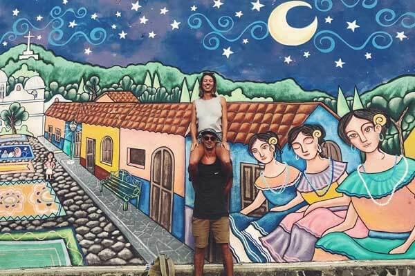 ruta de las flores tour, an australian couple traveling to ataco from el tunco
